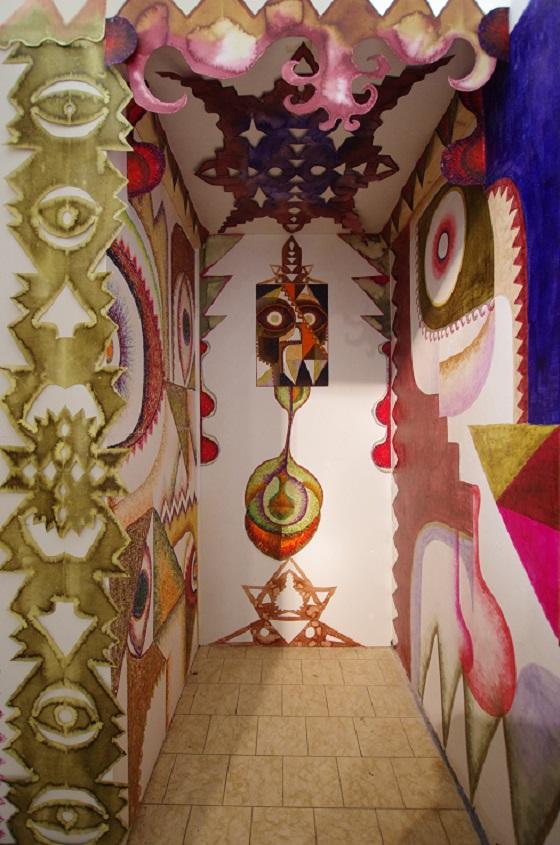 Bea Winkler, Detail of her Installation at Knotenpunkt Festival 2015