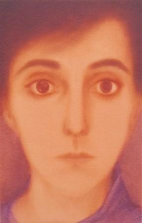 Malgorzata Neubart, Julia, Öl auf Holz, 30 x 19,5 cm, 2012