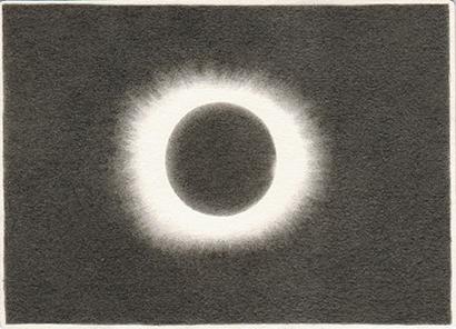 "Patricia Huck, a.d. Reihe ""Ende kommt später"", Bleistift auf Papier, 10,5 x 14,5cm, 2012"