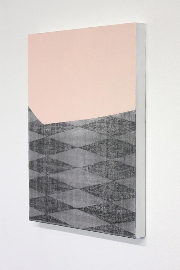 oT, Acryl, Graphit, Holz, 30 x 40 cm, 2016